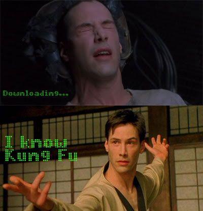 "The Matrix Neo ""I know kung fu"""