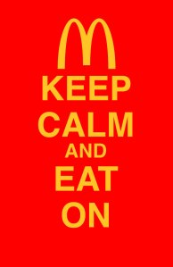 Keep Calm and Eat On Meme