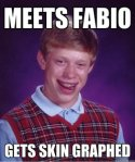 Bad Luck Brian Meets Fabio
